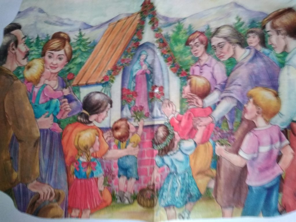 Majówka. Spotkanie modlitewne przy figórze Maryi.