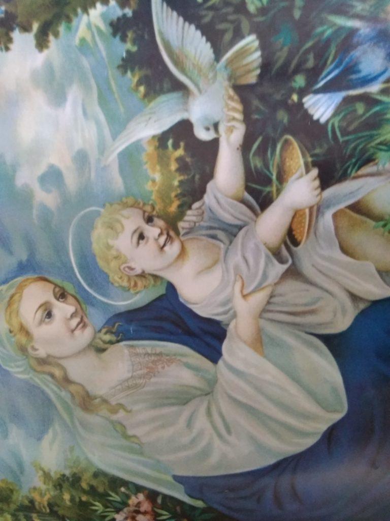 Dziecię Jezus i gołąb